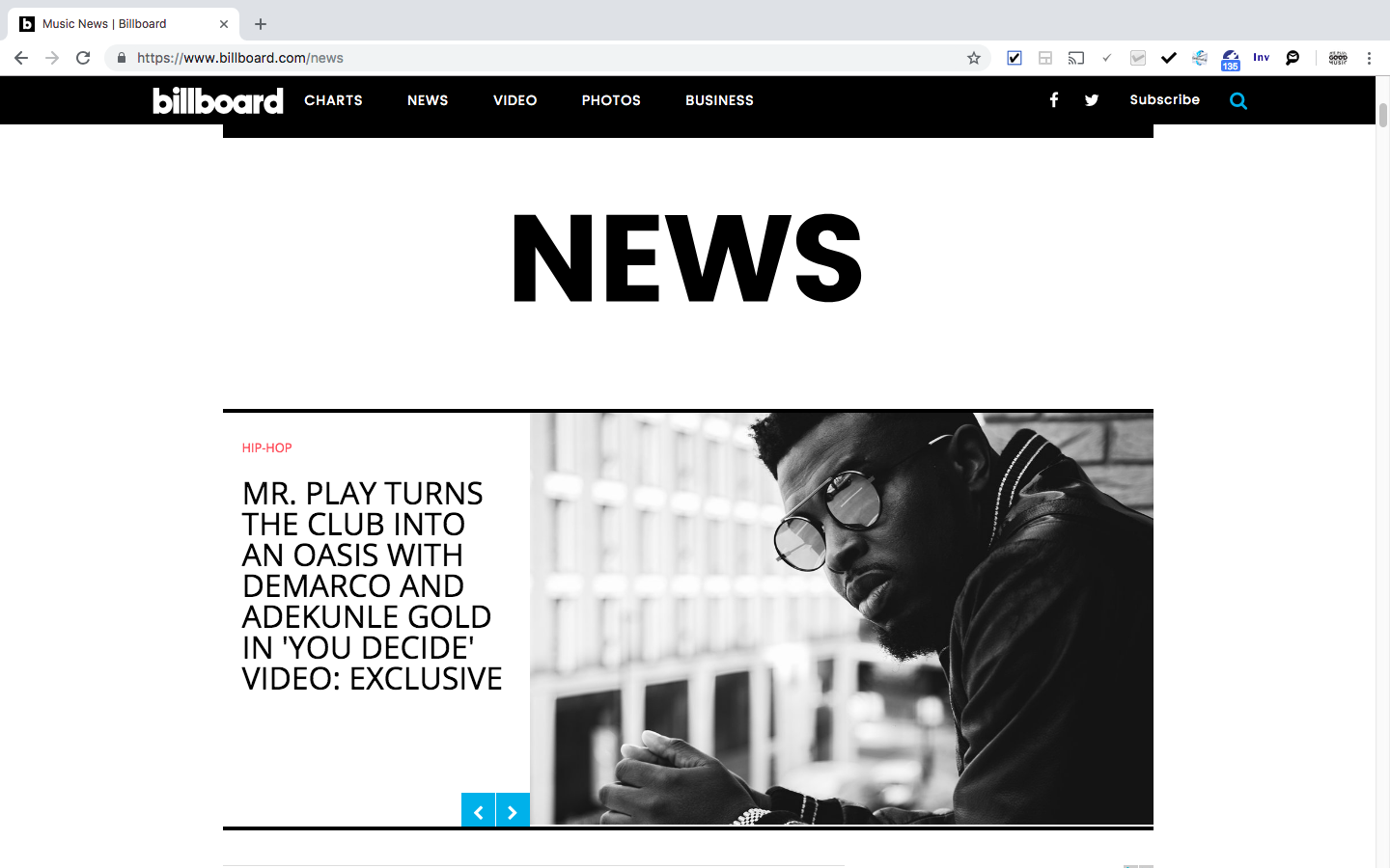 Billboard front page x Mr Play